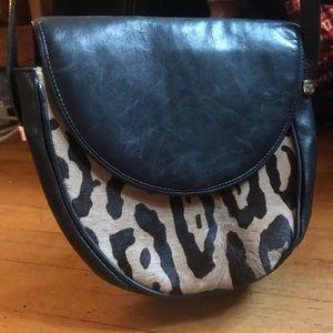 Neiman Marcus Bags - 🌀SALE🌀HP! Leather Ocelot Vintage Neiman Marcus❗️